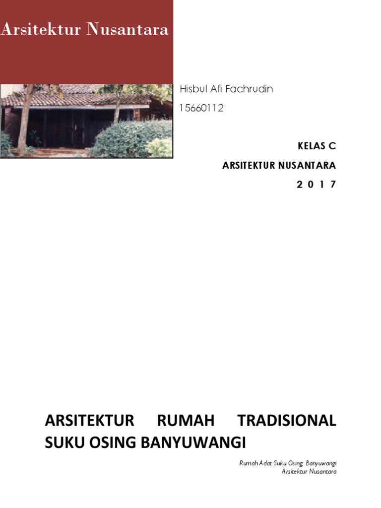 Arsitektur Nusantara Rumah Osing