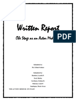Report on 'The Actor' for Theater arts