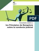 Los Principios de Bangalore Sobre La Conducta Judicial