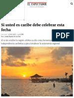 Si usted es caribe debe celebrar esta fecha | ELESPECTADOR.COM