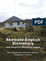 Akawaio English Dictionary and English Akawaio Index