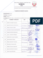Padron Sector I Chacamarca