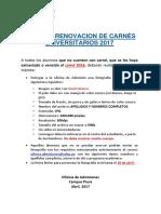 Aviso de Renovacion de Carnés 2017 - Campus Piura (1)