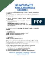 Aviso Sustitutorio General 2017-II
