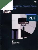 Kim Lighting CSB Curvilinear Square Beam Brochure 1983