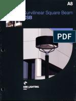 Kim Lighting CSB Curvilinear Square Beam Brochure 1984