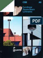 Kim Lighting CSB Curvilinear Square Beam Brochure 1987