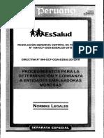 SE - Res. N° 104-GCF-OGA-ESSALUD-2010