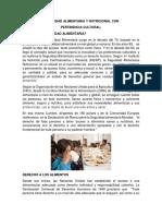 Seguridad Alimentaria y Nutricional Con Pertinencia Cultural Prevención y Reducción Del Riesgo Reproductivo y Atención Al Infante