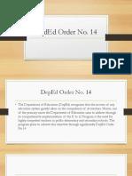Deped Order No. 14
