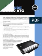 Dell Latitude E6400 ATG Spec Sheet