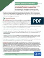 PHRESH Thalassemia Fact Sheet