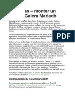 Pas à pas – monter un cluster Galera Mariadb.docx