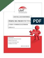 Perfil de Producto Uva