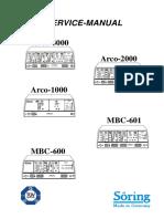 Söring Arco1000,2000,3000 - Service Manual