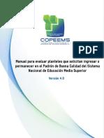 Manual Para Evaluar Planteles COPEEMS