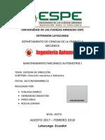 Informe Sistema Dirección