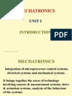Mechatronics Unit I