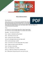 Luther Oratorio English Lyrics Nr 1-20 Rev 1