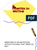 Difficulties in Writing
