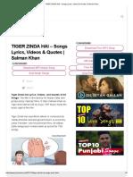 TIGER ZINDA HAI - Songs Lyrics, Videos & Quotes _ Salman Khan.pdf