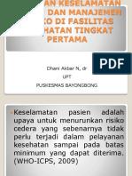 Pedoman Keselamatan Pasien Dan Manajemen Risiko Di Fasilitas Dr Dhani