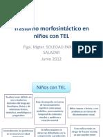 Clase 8. Trastorno morfosintáctico en niños con TEL