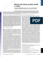 Moffitt 2011 PNAS Selfcontrol Outcome Society