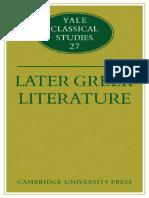 Later Greek Literature