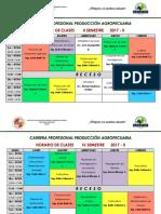 Horario Agropecuaria 2017 - II