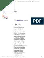 Théophile de VIAU - Le Matin