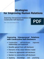 Improving Interpersonal Relations With Constructive Self-Disclosure HR