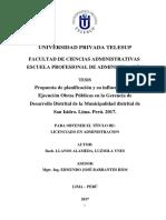 Luzmila Llanos Administración