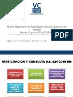 Nuevo Reglamento de Seguridad en Mineria DS 024-2016-EM