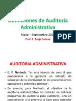 Definiciones de Auditoría Administrativa