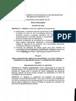 Proyecto Borrador Reforma Laboral ArgentinaOk