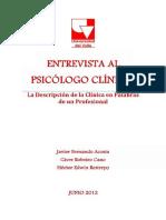 Entrevista Al Psicc3b3logo Clc3adnico