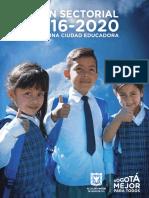 Bogota Educacion Plan 2016-2020