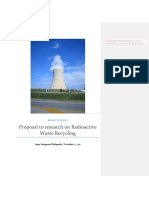 Research Proposal Sample- Radioactive wastes management