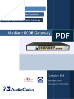 LTRT-10286 Mediant 800B Gateway and E-SBC User's Manual Ver. 6.8