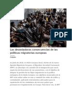 Las Devastadoras Consecuencias de Las Políticas Migratorias Europeas