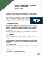 PLANIFICACION ESTRATEGICA CLINICA DE SALUD CENTRO MEDICO BOLIVIANO AMERICANO semestre 2-2016.docx