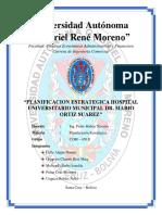 Planificacion Estrategica Hospital Universitario Municipal Dr. Mario Ortiz Suarez