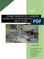 Consecuencias de La Mineria Ilegal en La Region Madre de Dios y Puno