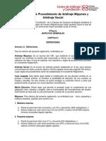 Reglamento de Procedimiento de Arbitraje Mipymes y Arbitraje Social