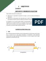 INFORME  MOMENTO FLECTOR Y FUERZA CORTANTE (Reparado).docx