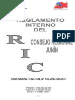 Reglamento Interno de Consejo 2013