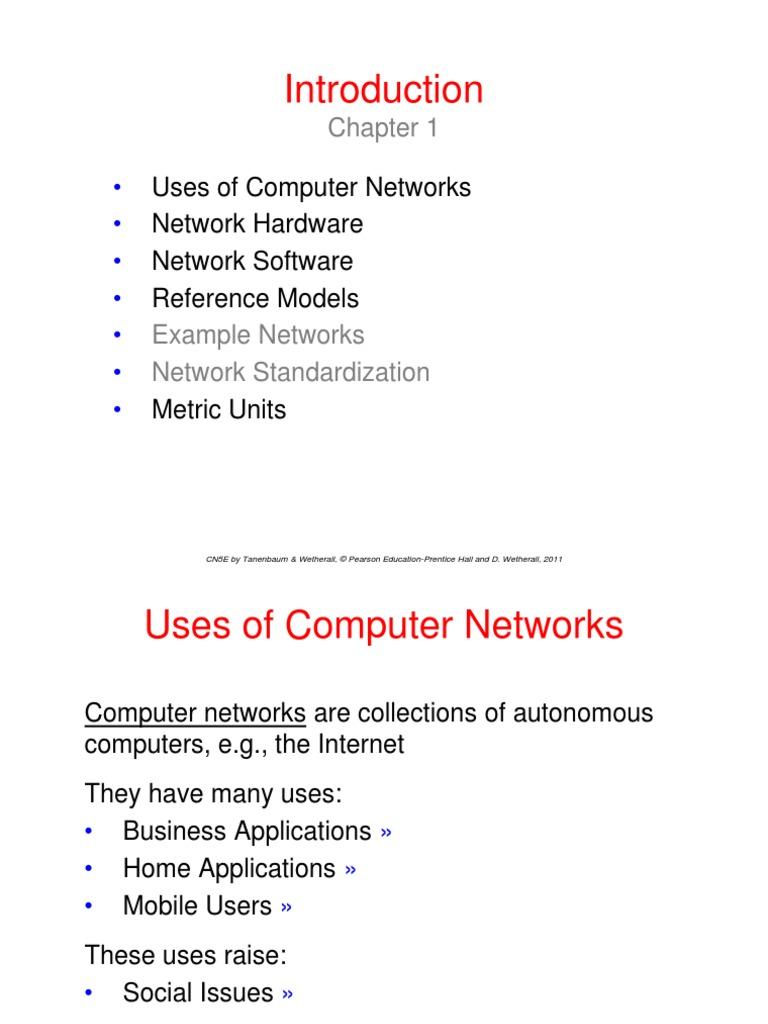 Computer Networks Ppt Tanenbaum