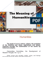 The Meaning of Humanities