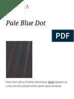 Pale Blue Dot - Wikipedia